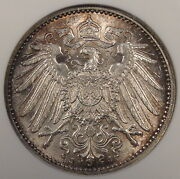Germany 1911-j Mark Anacs Ms63 Old Small Holder Nice Original Coin