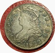 1822 Bust Half Dollar 50c O-111 Sharp And Gorgeous Choice About Uncirculated