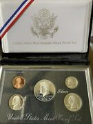 Stunning 1998 S Premier Silver Proof Set. Coins In Mint Made Custom Display Box