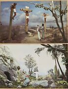 Rare Set 13 Postcards Cathedral Of Tomorrow Andldquolife Of Christandrdquo Cuyahoga Falls Oh