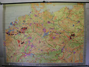 Wall Chart Roll Chart Germany Economy Industry 246x186 1962 Vintage Paris