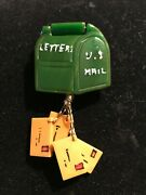 Rare  Bakelite Pin Articulated Mailbox With Hanging Letters