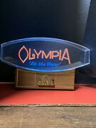 """Vintage Olympia Beer Lighted Back Bar Sign """" It's The Water """" Olympia Brewing"""