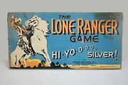 Vintage 1938 The Lone Ranger Game Parker Bros Original Game Board And Box Top Only
