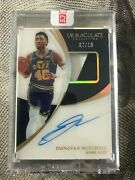 2018-19 Panini Immaculate Donovan Mitchell Second Year Gold Patch Auto 07/10