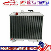 4 Row High Performance Radiator For 1941-1952 Jeep Willys Mb Cj-2a M38 Ford Gpw