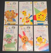 Baby Einstein Lot Of 6 Vhs Baby Bach Mozart Animals Shapes Sky Language Nursery