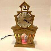 Vtg Mastercrafters 560 Light Up Animated Electric Church Clock Works No Chime