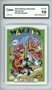 2012 Topps Wacky Packages Os4 Wackys All-stars Plastered 9 Gma Graded 10 Gem Mt