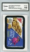 2012 Topps Wacky Packages Os4 Hips Ahoy Ludlow Sticker Gma Graded 10 Gem Mt