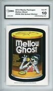 2012 Topps Wacky Packages Os4 Mellow Ghost Ludlow Sticker Gma Graded 10 Gem Mt