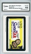2012 Topps Wacky Packages Os4 Sweetar Candy Ludlow Sticker Gma Graded 10 Gem Mt
