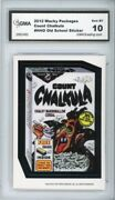 2012 Topps Wacky Packages Os4 Count Chalkula Ludlow Sticker Gma Graded 10 Gem Mt