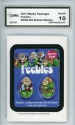 2012 Topps Wacky Packages Os4 Feebles Ludlow Sticker Gma Graded 10 Gem Mt