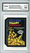 2012 Topps Wacky Packages Os4 Sneezing Yellow Honkers Sticker Graded 10 Gem Mt