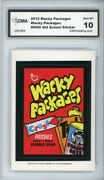 2012 Topps Wacky Packages Os4 Patches Crust Ludlow Sticker Gma Graded 10 Gem Mt