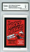 2012 Topps Wacky Packages Old School S4 Crust Red Ludlow Sticker Gma Graded 7 Nm