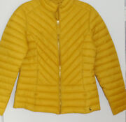 Joules Elodie Quilted Jacket Antique Gold Yellow Puffer Size 12 New Tags Bnwt