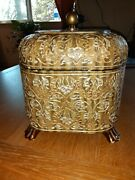 Vintage Castilian Imports Decorative Carved And Painted Box Large