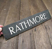 Old Reclaimed Bronze Rathmore Sign / House / Area Name Plaque Ireland