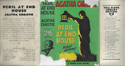 Agatha Christie Peril At End House - Rare Uk 1st 1932 2/6and039 Original Dust Jacket