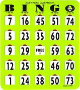 Jam-proof Easy-read Large Bingo Cards With Sliding Windows 50 Cards