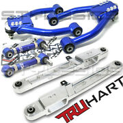 Front + Rear Camber + Polished Lower Control Arm Kit For 97-01 Honda Crv