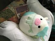Squishmallows Easter Squad Belana 16 Cow With Mint Green Scarf - Light...