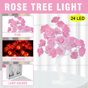 Battery Powered Led Fairy Tree Light Rose Flower Home Room Party Decoration Lamp