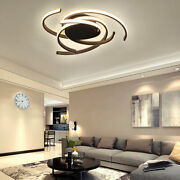 Black Dimmable Acrylic Chandeliers Flush Mount Pendant Light+ Remote Control Usa