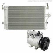 For Cadillac Dts 4.6l 2006-2010 Oem Ac Compressor W/ A/c Condenser And Drier Tcp