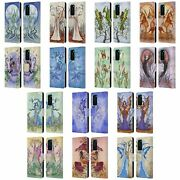 Official Amy Brown Elemental Fairies Leather Book Case For Huawei Phones 4
