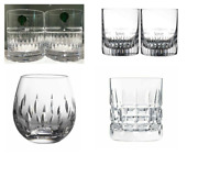 Waterford Assorted Stemless Whiskey Glasses 8329 Set Of 6
