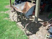 Old Horse Drawn Seed Spreader With Steel Wheels Rustic Americana