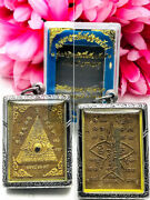 Thai Amulet Lp Suang Pyramid All Seeing Eye Wealth Lucky Windfall Be2559 15068
