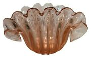 Stunning Archimede Seguso Murano Art Glass Oyster Shell Sculpture Pink And Pearl