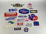 Lot Of 20 Assorted Racing Stickers Tool Box Hard Hat Man Cave Helmet Nos 64