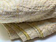 Stunning John Robshaw King Silk Bedspread Yellow Stitches Freshly Dry Cleaned.