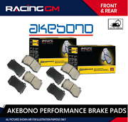 Front Rear Akebono Performance Ceramic Brake Pads For Nissan Infinity Usa Made