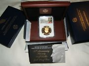 2014 W Kennedy High Relief Proof Gold Half Dollar Ngc Pf70 Early Releases W Ogp