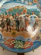 Sound Of Music Musical Plates Set Of 4 Plates With Wall Holder Vgc