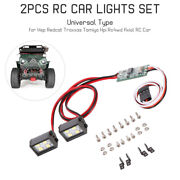 2pcs Light Roof Headlight Lamp 8leds For 1/10 Rc Axial Scx10 Hpi Rc Car S2y9
