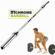 Hot Olympic Barbell 7 Ft Bar 34 Lbs Pounds Rated For 330 Lbs Rogue Titan