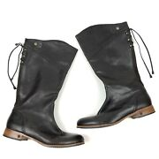 Ugg Australia Annabelle Brown Leather Lace Up Women's Riding Boots Size 11