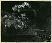 1969 Press Photo Firemen Spray Water On Fire At Mobile Oil Corp. - Hcx11366