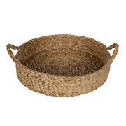 Better Homes And Gardens 16 Round Natural Colored Water Hyacinth Woven Tray