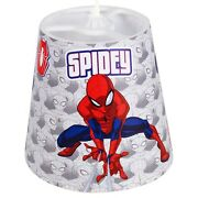 Marvel Spiderman Lampshade Ceiling Childrenand039s Bedroom Fabric Night Light Shade