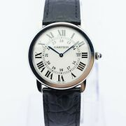 Ronde Sole Quartz Watch Mens 36mm With Leather Strap Rrp Andpound2950
