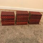 The Complete Works Of Charles Dickens 20 Volumes Antique Gilt Leather Book Set