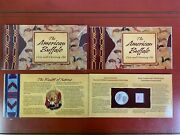 U.s. Mint 2001 Commemorative The American Buffalo Coin And Currency Set+ Package